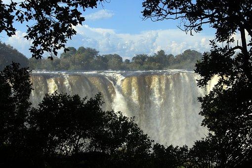 Victoria Falls, Waterfall, Zambezi, Zimbabwe, Spray