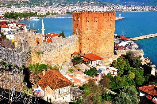 Antalya, Alanya, Kızılkule, Day