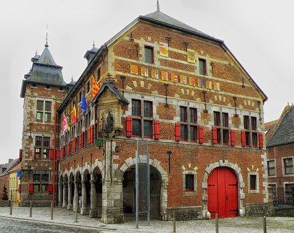 Borgloon, Denmark, City, Urban, Building, Architecture