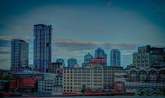 Vancouver, Canada, Skyline, Scenery, Building