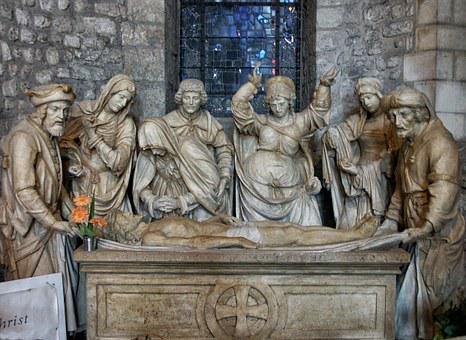 Cathedral, Reims, France, The Entombment, Christ