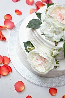 Wedding, Cake, Sweet, White, Dessert, Celebration