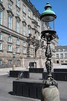 Government, Copenhagen, Lamp, Day, Old, Christiansborg