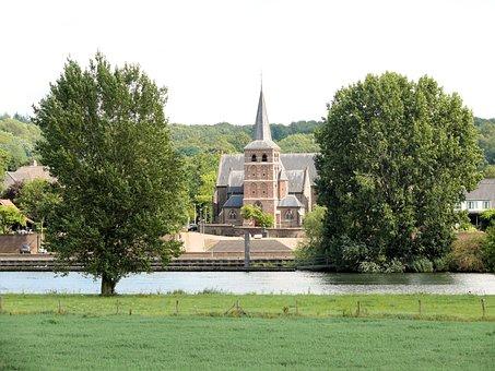 Batenburg, Place, River, Church, Water