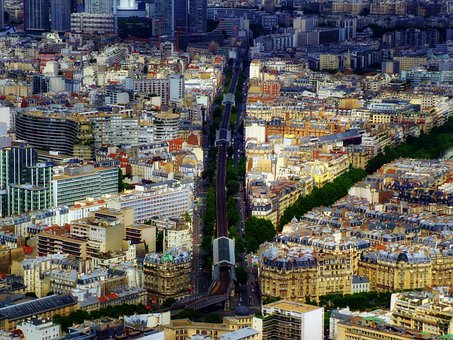 Paris, France, City, Urban, Sprawl, Buildings, Street