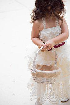 Wedding, Flower Girl, Dress, White, Female, Marriage