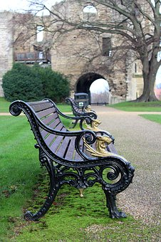 Bench, Park, Castle, Park Bench, Grass, Green, Tree