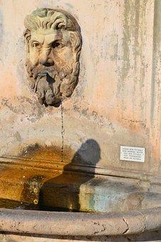 Fountain, Vatican, Italy, Rome, Head