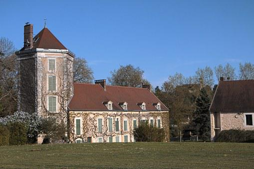 Burgundy, House, Chatel Censoir, France, Yonne, Blue