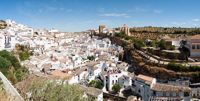 Setenil De Las Bodegas, Spain, Town, Village, Houses
