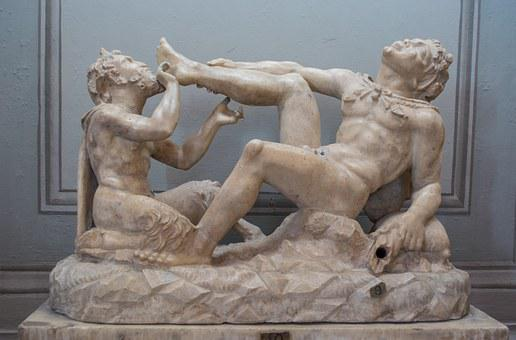 Sculpture, Damn, Museum, The Vatican, Rome, Italy
