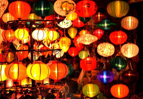 Vietnam, Lanterns, Hoi An, Night Market, Colourful