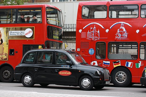 London, Taxi, Nero, Transport, Roads