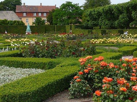 Rose Garden, Rosenborg Castle, Denmark, Park