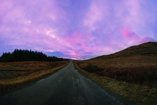 Sunset, Scotland, Landscape, Scottish, Sky, Highlands
