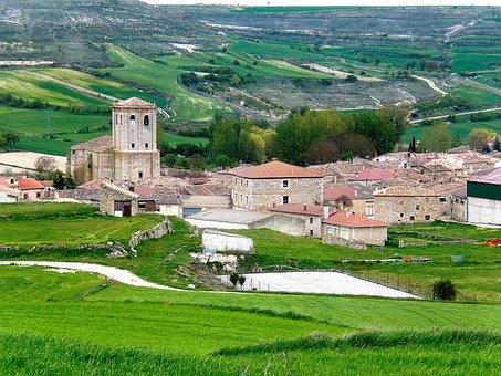 Village, Countryside, Spain, Panorama