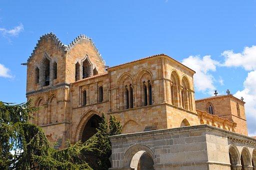 Convent, Avila, City, Building, Spain, Torres, Facade