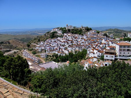 White Village, Spain, Landscape, South Spain Casares