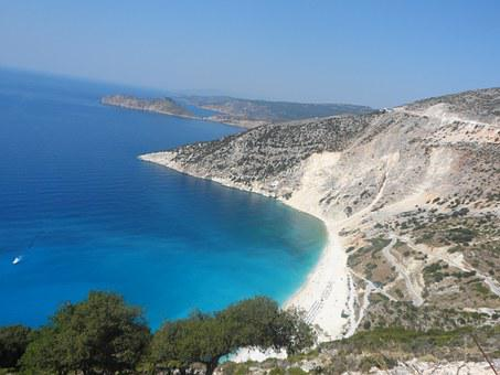 Myrthe Beach, Kefalonia, Greece, Holiday, Summer, Blue