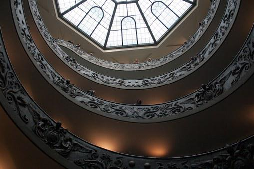Vatican, Museum, Helical Ramp, Tourists, Shape, Texture