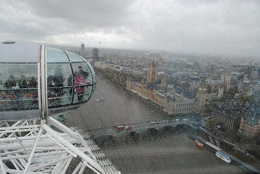 London, England, The London Eye, The Capsule, View
