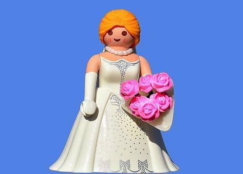 Bride, Wedding, Gown, Dress, Bouquet, Marriage, Woman
