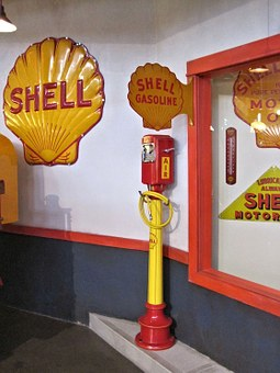 Shell Logo, Air Pump, Antique, Canadian Museum