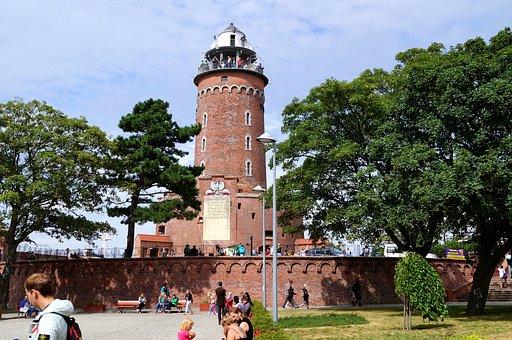 Kolobrzeg, Poland, Lighthouse, Brick Construction