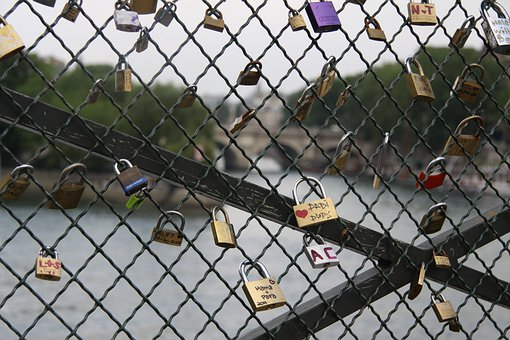 Love, Paris, Pont Des Arts, Bridge Of Arts, Padlock