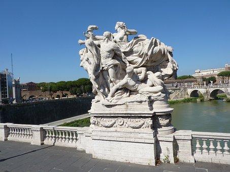 Sculpture, Bridge, Rome, River Tiber, Landmark