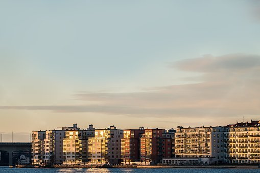 Buildings, Sunset, City, Sky, Architecture, Cityscape