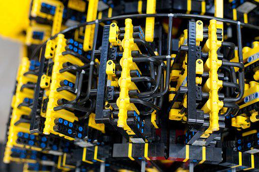 Lego, Car, Lego Car, Powered By Air, Toy, Child, Block