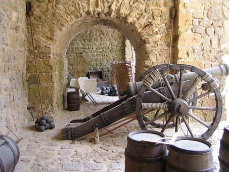 Gun, Ibiza, Castle, Old Town, Balearic Islands, Spain
