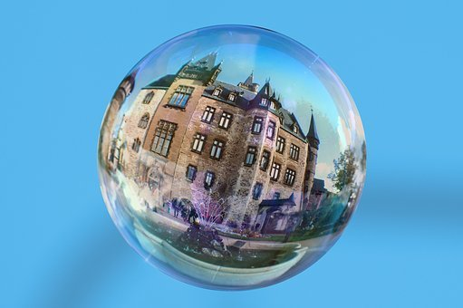 Soap Bubble, Castle, Pie In The Sky, Flying, Sky, Float