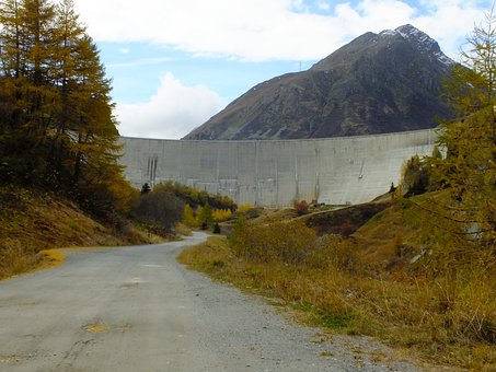 Dam Les Toules, Great St Bernard, Alpine, Autumn