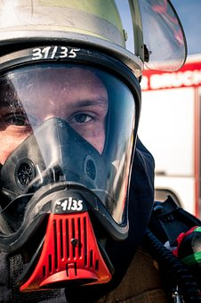 Fire, Fire Fighter, Respiratory Protection, Helm, Mask