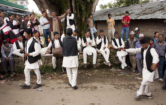 People, Folk Dance, Newari Culture, Dancing, Music