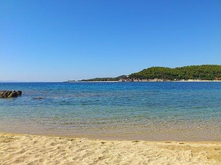 Beach, Toroni, Sea, Beach Sand, Greece, Halkidiki