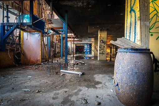 Urban, Warehouse, Factory, Building, Industrial