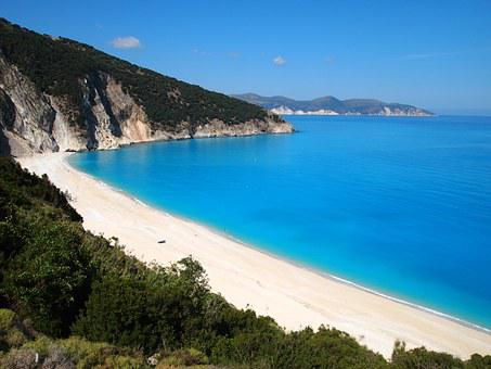 Beach, Greece, Kefalonia, Island, Summer, Water