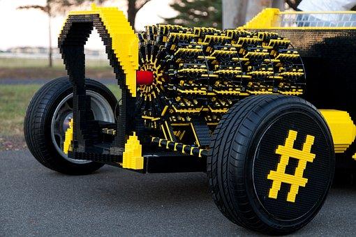 Lego, Car, Lego Car, Powered By Air, Brick, Toy, Child