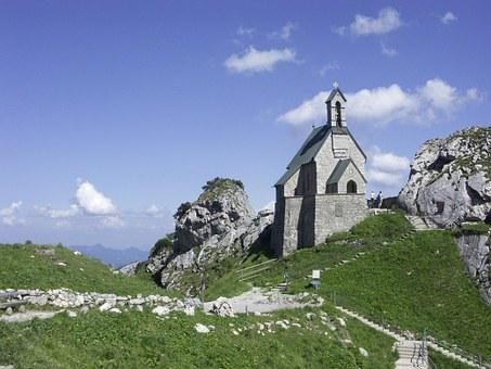 Church, Wendelstein, Mountain, Bavaria, Chapel