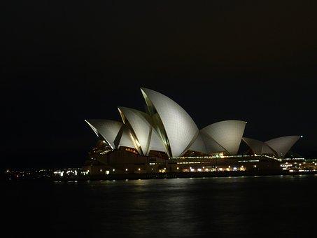 Sydne, Opera, Opera House, Night, Concert Hall