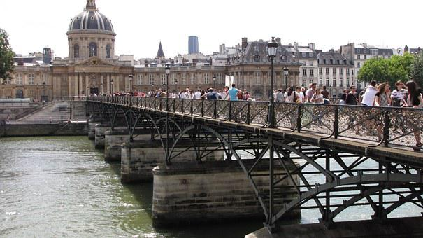 Bridge, Paris, Padlock, Pont Des Arts, Love