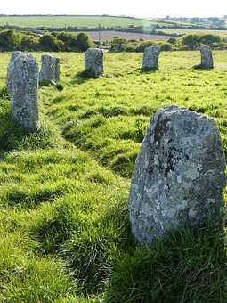 Stone Circle, Cornwall, Megaliths, Place Of Worship