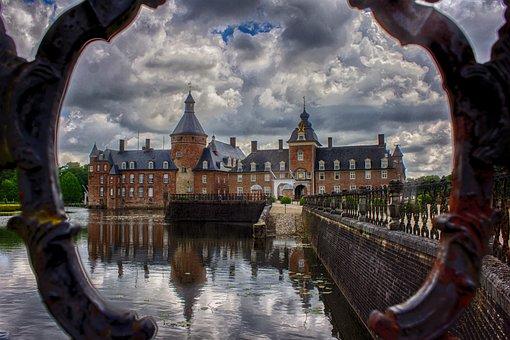 Schloss Anholt, Castle, Pond, Mirror