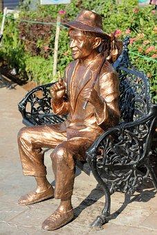 Bollywood, Raj Kapoor, Statue, Bronze