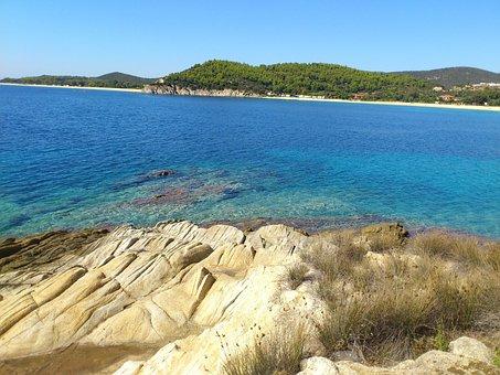 Toroni, Booked, Rock, Water, Ocean, Halkidiki, Greece