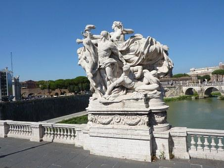 Sculpture, Bridge, Rome, River Tiber, Landmark