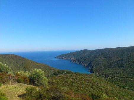 Sithonia, Greece, Halkidiki, Sea, Mountains, Bay